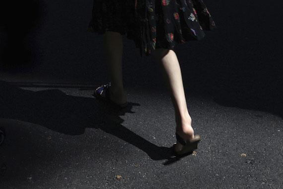 """""""Walking Woman,"""" Los Angeles 2013 © Marissa Roth"""