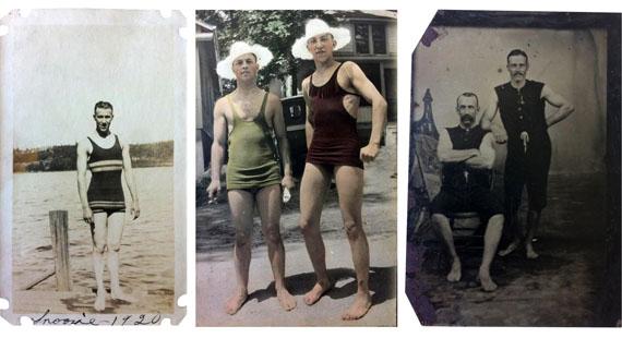 BATHERS. FOUND PHOTOGRAPHS, 1880-1963