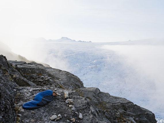 "Lucas Foglia: Evan Sleeping at Camp 18, Juneau Icefield Research Program, Alaska, from ""Human Nature"", 2017© Lucas Foglia"