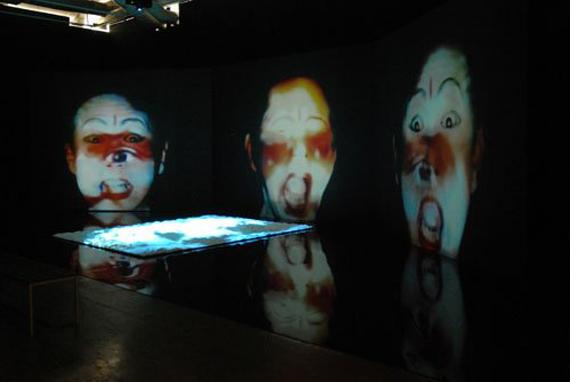 installation view:  La rébellion des morts. Rétrospective 1969-2018 de Nalini Malani