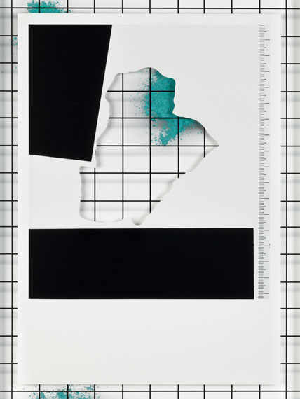 """Samuel Henne: untitled #04 from """"displacements"""", 2016Fine Art Print and cut-out (detail), 40 x 30 cm"""