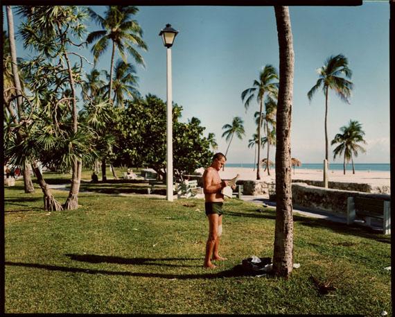 STEPHEN SHOREMiami Beach, Florida, November 13, 1977Chromogenic contact printCourtesy Edwyn Houk Gallery