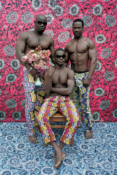 Untitled (Musclemen), 2012 Photograph, C-Print, 150 × 100 cm © Leonce Raphael Agbodjelou. Courtesy Jack Bell Gallery
