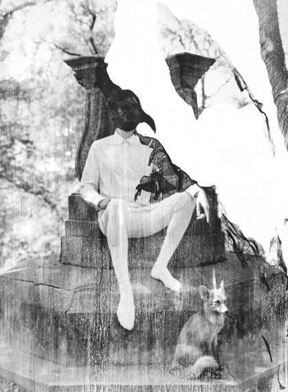 "Valentina Murabito: ""Die blaue Stunde"", 163 x 120 cm, Handabzug, analog s/wFotografie, Fotoemulsion auf Aquarellpapier, Unikat, 2017© Valentina Murabito"