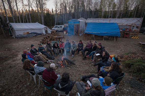 Isabelle Hayeur: Le Camp de la rivière at dusk, 2018