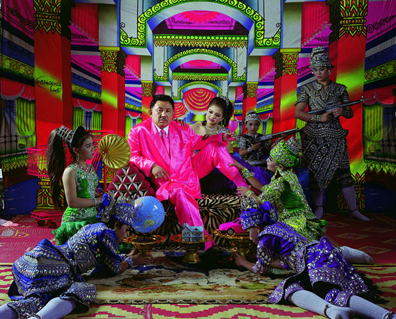 Pink Man Opera #8 (Lounging Tiger Gets to Eat), 2009   |   Lambda print   |   47 x 58 in. (120 x 148 cm) © Manit Sriwanichpoom