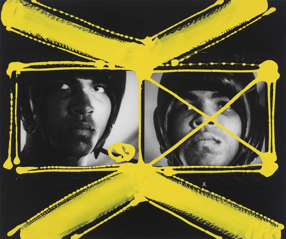William Klein: Muhammed Ali, Miami 1964, malerisch bearbeitet 2010