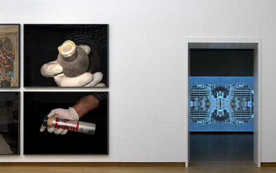 Installation view Walid Raad - Let's be honest, the weather helped, Stedelijk Museum Amsterdam, 2019, Photo: Gert Jan van Rooij