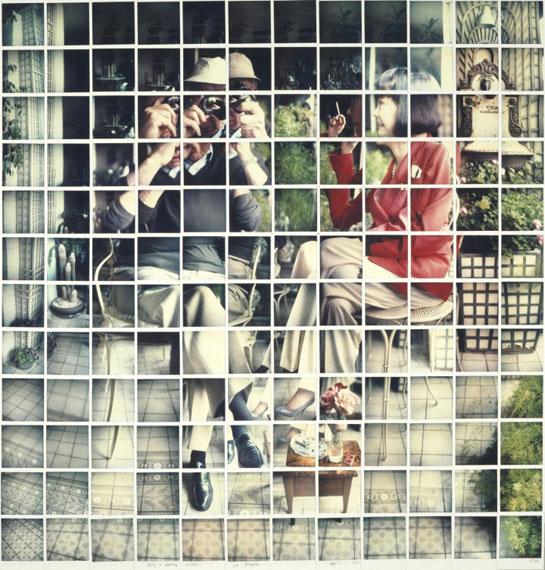 "David HockneyBilly + Audrey Wilder, Los Angeles, April 1982 1982Composit polaroid, 46 x 44""Private Collection © David Hockney Photo Credit: Richard Schmidt"