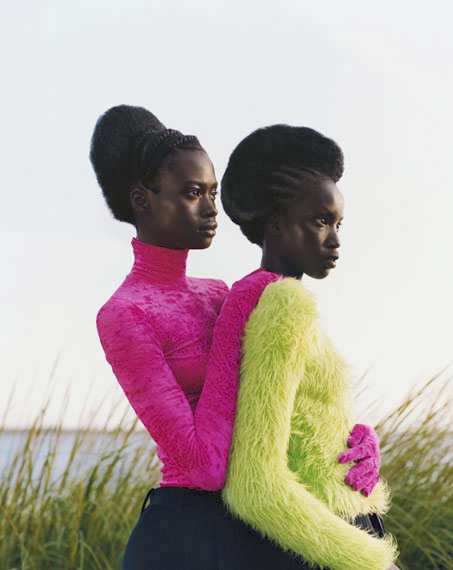 Untitled (Two Girls Embrace), 2018 © Tyler Mitchell