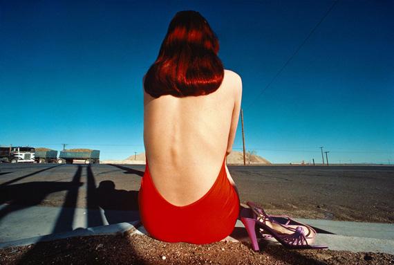 GUY BOURDINCharles Jourdan, Campaign 1975, 1975Fujiflex Crystal Archive Printh 88.3 x w 116.8 cm (h 35 x w 46 in)Incl. of margin (top, left, right: 12.7 cm, bottom: 14.6 cm)Louise Alexander Gallery, Los Angeles and Porto Cervo, Italy