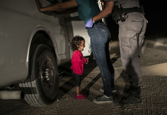 World Press Photo of the YearCrying Girl on the Border, USA © John Moore, Getty Images