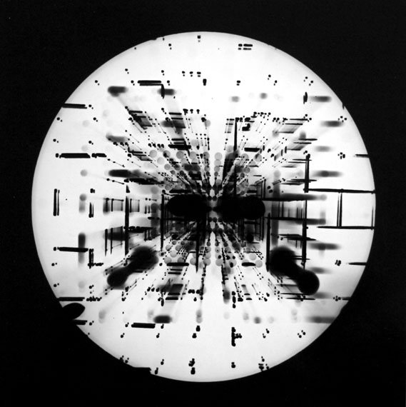 Roger Humbert: Untitled, 1960, Photogram on Baryt paper, 17 x 17cm, Unique
