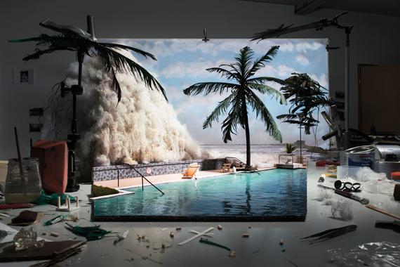 Making of 'Tsunami' (by unknown tourist, 2004) 2015 © Cortis & Sonderegger; courtesy The Ravestijn Gallery