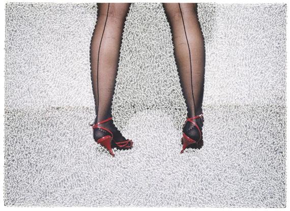 Sissi Farassat: Red Shoes, 2016, 28 x 38 cm, C-Print with Swarovski, unique piece