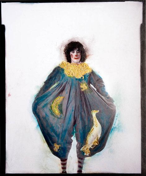 Walter Schels: Pierrot Lunaire, 1981, übermalter Pigmentprint, 40 x 50 cm