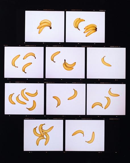 """Sissi Farassat: """"Contactsheet Banane"""", 2020, 65×75 cm, Auflage: 5+II"""