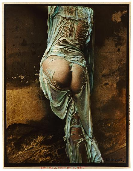 Jan Saudek: Pavla, modeling for the first and last time, 1978