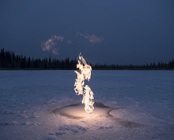 Benedikt Partenheimer: Methane Experiment, Alaska, 2017