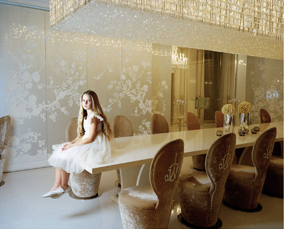 Anna SkladmannLisa Sitting on Her Dining Table, Moscow, 2010From the 'Little Adults' seriesDigital printCollection of Multimedia Art Museum, Moscow
