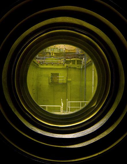 Tor Seidel: Beobachtungspunkt für Reaktorsaal KKW Rheinsberg, 2011, Leuchtkasten, 160 x 115 cm