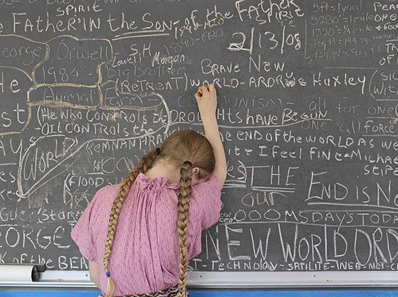Homeschooling Chalkboard, Tennessee, 2008 © Lucas Foglia