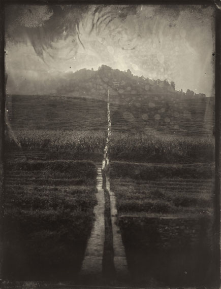 """Simple Song #64: Road"" (2012) Pigment print on fiber paper from collodion wet plate. 30x 21cm - Ed. of 20; 147.3 x 111.8cm - Ed. of 8.©Luo Dan. Courtesy M97 Gallery."