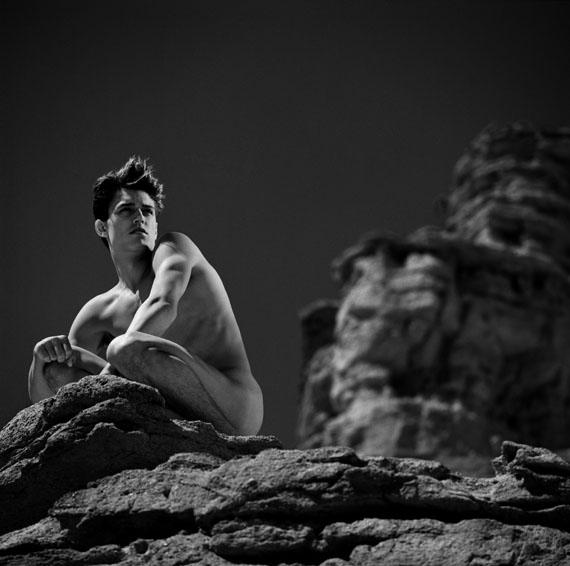 Greg GormanAaron on RockRed Rock Canyon 1991© Greg Gorman