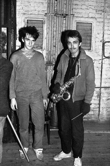 Sergey Kurekhin, Timur Novikov. Jazz festival «Autumn rhythms». Leningrad. 1984