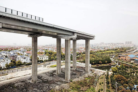 Dead end highway, China 201340x60 inches, 100x150 cm Archival Pigment Print on Hahnemühle Fine Art Baryta © Peter Braunholz
