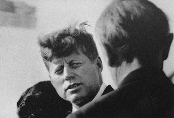 """Guido Mangold""""John F. Kennedy und Konrad Adenauer"""", 1963, 30 x 40 cm, S/W-Vergrößerung"""