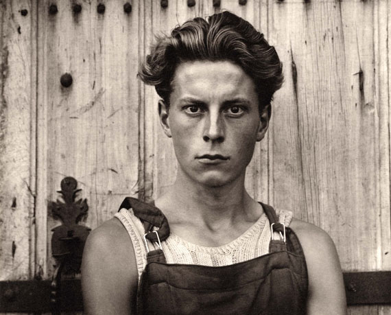 PAUL STRANDYoung Boy, Gondeville, Charente, 1951Platinum-palladium print, authorizing seal of Paul Strand Archive, Edition of 250, printed later 20 x 16 inches