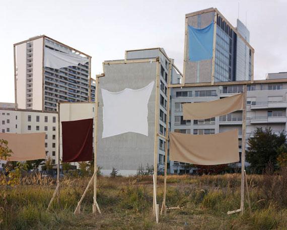 Banners 2009 © Taiyo Onorato and Nico Krebscourtesy RaebervonStenglin Zurich and Peter Lav Gallery Kopenhagen