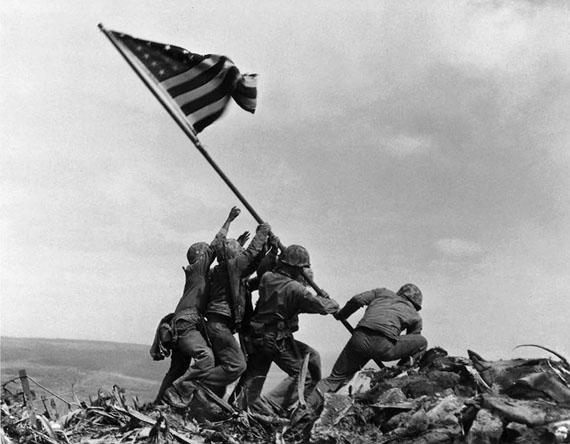 Joe Rosenthal Raising the Flag on Mount Suribachi, Iwo Jima, 1945Gelatin silver print 11.25 x 14 in.Est. US$4,000–6,000