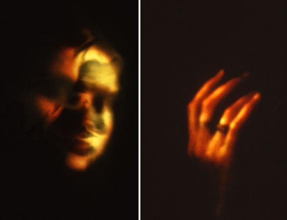 """Corinna Rosteck: """"Kopf und Hand"""", Cibachrome unter Glas, 150x100 cm, 1995"""