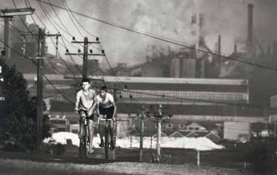 David Moore (1927–2003)Newcastle Steelworks, 1963 1963photograph; gelatin silver on layout sheet© David Moore Estate