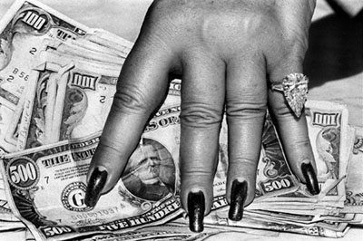 Helmut Newton Fat Hand and Dollars Monte Carlo 1986