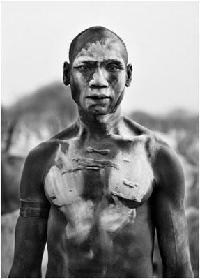Dinka man, Southern Sudan, 2006© Sebastião Salgado/Amazonas/NB Pictures