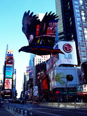MASLEN & MEHRAAmerican Eagle - Times Square - New York - series II - image IC-Print mounted on dibond63 x 47 1/4 in.160.02 x 120.02 cm.20071/5Copyright © PRISKA C. JUSCHKA FINE ART 2008