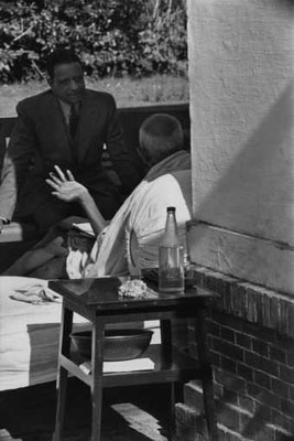 © Henri Cartier-Bresson/Magnum Photos . Gandhi the day before his assassination, Birla House, Delhi, India, 1948