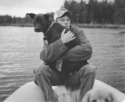 "© Bruce Weber . ""Trevor and Billy"", Lower St. Regis Lake, Adirondacks, NY, 2005"