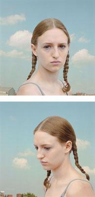 """Loretta Lux, """"PORTRAIT OF A GIRL 1"""" / """"PORTRAIT OF A GIRL 2"""". 2000, 2 Cibachrome-Abzüge, Diptychon, Je ca. 22,3 x 22,4 cm, Je einer von 20 nummerierten Abzügen"""