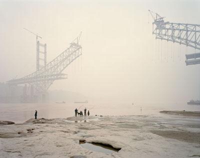 """Nadav Kander: """"Chongqing XI""""(2007) C-Print. 75cm x 100cm - Edition of 5; 100cm x 125cm - Edition of 5; 120cm x 150cm - Edition of 3."""