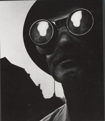 Steelworker with Goggles, Pittsburg, 1955 , © The Heirs of W. Eugene Smith, courtesy Black Star