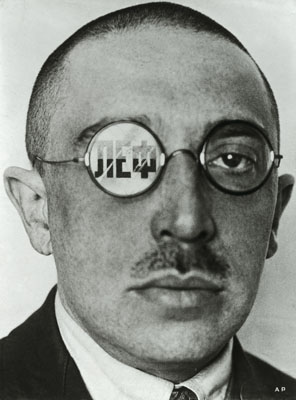 Alexander Rodchenko Caricature Showing Osip Brik, variant of a cover for LEF Magazine, 1924Photomontage, reproduction 24,2 x 17,9 cmPrivate collection © Rodchenko's Archive / 2011, ProLitteris, Zurich