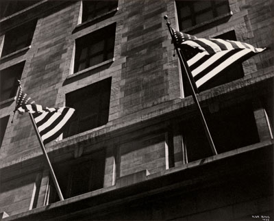 Ilse Bing, Flags, Fifth Avenue, Fourth of July, New York, 1936