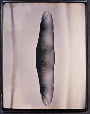 Aaron Seeto, Fortress (Returning Finger #1), 2011, from Fortress, Daguerreotype, 13 x 10cm, edition of 1 + 1AP