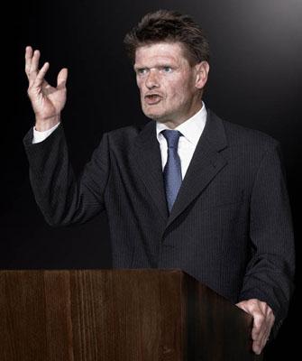 MICHAEL SCHÄFER, aus der Serie Die Redner, 2009-2011