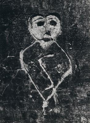 BRASSAÏGraffiti de la Série IX, Images primitives1933 - 1956Silbergelantine Abzug /Gelatin silver print39,5 x 29 cm / 15 ½ x 11 ½ inCourtesy Galerie Karsten Greve, Köln
