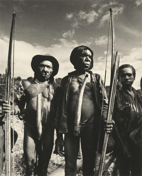 Ceremonial Gathering, Irian Jaya, 1992, © Don McCullin, courtesy of Hamiltons